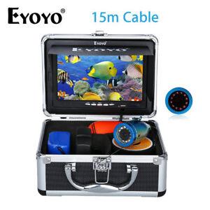 "EYOYO 7"" TFT LCD Screen Fish Finder 12 LED 15M Underwater HD 1000TVL Camera IP68"