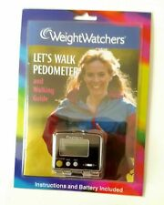 Weight Watchers Let's Walk Pedometer With Walking Guide New Sealed