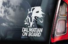 DALMATIAN Car Sticker, Carriage Dog Window Sign Bumper Decal Gift Pet - V01