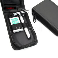 Razor Travel case  Wet Classic Safety Razor & Double Edge Shaving Blades Shaver