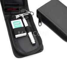 Razor Travel case  Wet Classic Safety Razor & Double Edge Shaving Blades Shaver