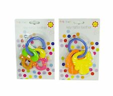 First Steps Key Rattle Teether Easy Learning Toy to Grasp and Hold