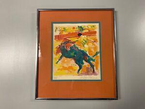 Leroy Neiman Original Color Serigraph Hand Signed Bullfight Matador Artist Proof
