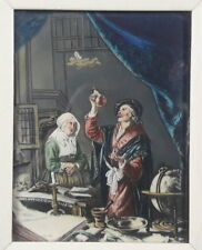 Miniatur Portrait Malerei Lupenmalerei - Arzt, Quacksalber, Doktor