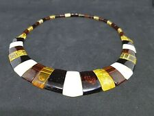 Beautiful Genuine Baltic Amber Cloepatra Necklace MIX for Woman
