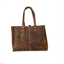 Vintage Leather Tote Bag Women Handbag Purse Travel Shoulder Bags Large