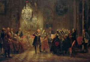 Adolph Menzel Flute Concert with Frederick the Great in Giclee Canvas Print