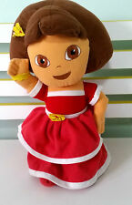 DORA THE EXPLORER GORGEOUS PLUSH TOY IN RED DRESS WITH YELLOW FLOWERS 38CM!
