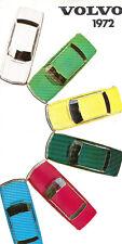 1972 Volvo Paint Color Guide Brochure - 1800E 1800ES 164 142 144 145 140
