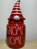 Rae Dunn Christmas GNOME HOME Canister Red With Lid Holiday 2020 LL By Magenta