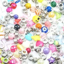 Beautiful Mixed Style 50Pcs Charm Pendant Bead Fit European Bracelet Necklace H5