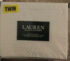Lauren Ralph Lauren Gray & White Print Twin Sheet Set NWT