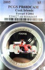 PCGS 2005 x 2, Ferrari Silver Coins Set (Cook Islands 5 dollars)