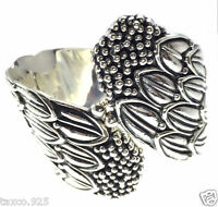 TAXCO MEXICAN 950 SILVER MELESIO RODRIGUEZ FLORAL CLAMPER BRACELET MEXICO
