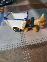 Vintage Small Donkey Cart Planter Occupied Japan, Succulent Size