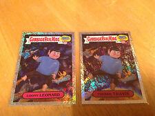 GARBAGE PAIL KIDS - 30TH ANNIVERSARY - LOONY LEONARD & TREKKIE TRAVIS FOIL CARDS