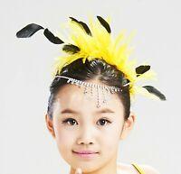 Women Girl Dance Feather Party Hair Head Wear Clip Pin Accessory Fascinator