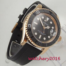 41mm PARNIS Black dial Date 21 jewels Miyota Automatisch movement Uhr mens Watch