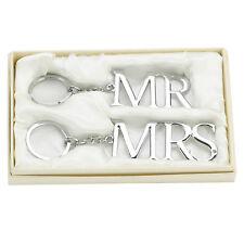 """Amore Lot de 2 silverplated porte-clés suis r & Mme """"fantastiques Coffret cadeau de mariage!"""
