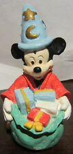 RARE Disney Sorcerer Mickey Mouse Christmas Ceramic Porcelain Figure Figurine