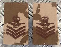 Genuine British Army Desert FLIGHT SERGEANT AIRCREW Rank Slides / Epaulette NEW