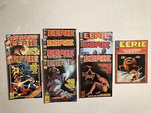 11 Vintage Monster Horror Magazines Eerie Famous Monsters Lot #21 Warren VG