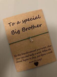 🌟Special Big Brother friendship Wish Star Charm bracelet Gift Present🌟