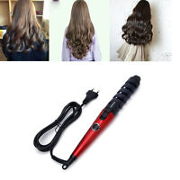 Electric Magic Hair Curling Ceramic Iron Styling Spiral Wave Curler Tool EU Plug