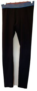 reebok Women Black Full Length leggings Size small Waist 26""
