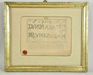Image of the Titulus Relic of the Inscription of Christ's Cross Papal Seal Frame