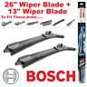 """Bosch AeroTwin Front Wiper Blades AP26U 26"""" Inch and AP13U 13"""" Inch Multi Clip"""