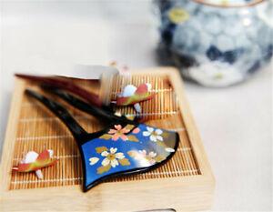Japanese Kanzashi Sakura Pattern Hairpin Acrylic Fit for Kimono Cosplay Hairpin