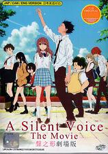 A Silent Voice [Koe No Katachi] DVD English and Cantones DUB Anime US-Seller FAS