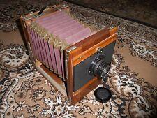 FKD FK 13x18 Vintage Russian Folding large Wooden camera & Industar 51 Lens 6475