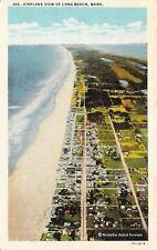 Long Beach Washington~Airplane View~Brubaker Aerial Service 1920s