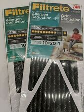 2 Filtrete 10 x 20 x 1 Allergen Defense Odor Reduction Ac Furnace Air Filtration