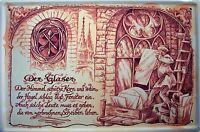 Beruf Glaser Blechschild Schild Blech Metall Metal Tin Sign 20 x 30 cm