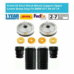 Front LR Strut Shock Mount Mounts Support Upper Lower Bump Stop Fit BMW E70 X5