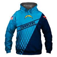 Los Angeles Chargers Hoodie Hooded Pullover Sweatshirt S-5XL Football Team Fans