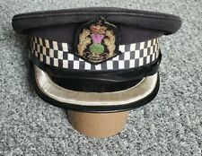 More details for vintage scottish police chief inspectors cap/ hat with bullion badge