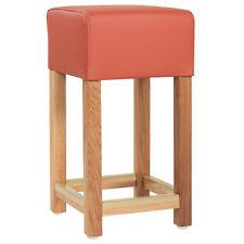 Barhocker, mit Sitzhöhe 62 cm, Gestell aus mass. Eichenholz, Bezug versch. Farbe
