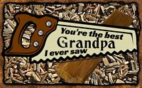 (Best Grandpa) WALL DECOR, DISTRESSED, RUSTIC,PRIMITIVE, HARD WOOD, SIGN, PLAQUE