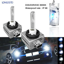 Pair D1S D1R D1C 6000K White HID Xenon Headlight Light Bulbs interchange OEM One