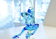 Swarovski Crystal Stunning Blue Frog on Branch 5239716 Signed Brand New In Box