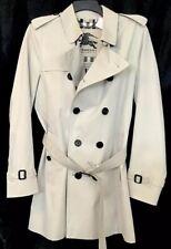 Burberry Trenchcoat Men's The Kingsington Natural Cotton Plaid Lining Size 50