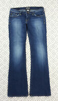 Womens Lucky Brand Jeans Lil Maggie Flare Leg Blue Jeans Denim Size 6 30 X 33