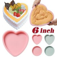 6 Inch Silicone Cake Mold Heart Round Mousse Bread Mould Baking Tray Pan Tool