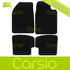 Black Fully Tailored Rubber Car Floor Mats For Toyota Yaris 3DR 1999 - 2006