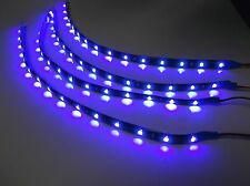 "Lot of 4 BBT 12"" Flexible Waterproof 12 volt Blue LED Strip Lights for RVs"