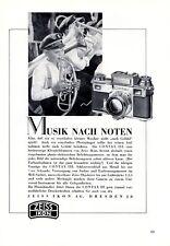 Fotocamera Zeiss Contax III insegne 1938 Blasmusik scuola di musica + Pubblicità